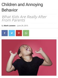 Children and Annoying Behavior
